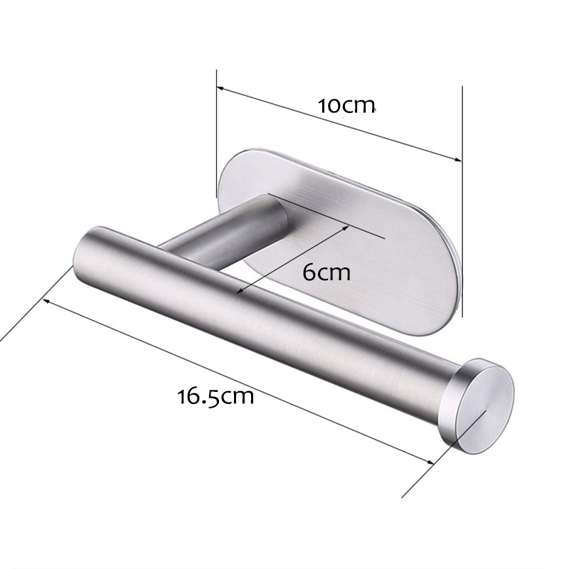 Vidric Wall Mount Stainless Steel Toilet Paper Holder Bathroom Paper Roll Holder Adhesive Suction Kitchen Tissue Towel Rack Hold