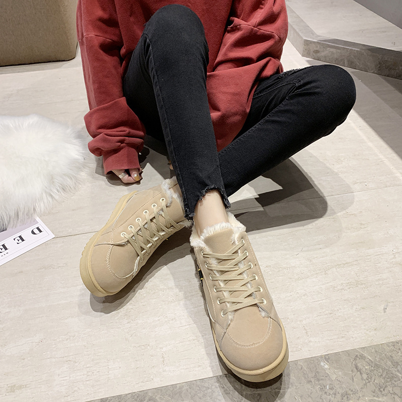 Women's winter sports shoes ladies snow boots casual students warm Martin boots winter plus cotton boots women's cotton shoes 15
