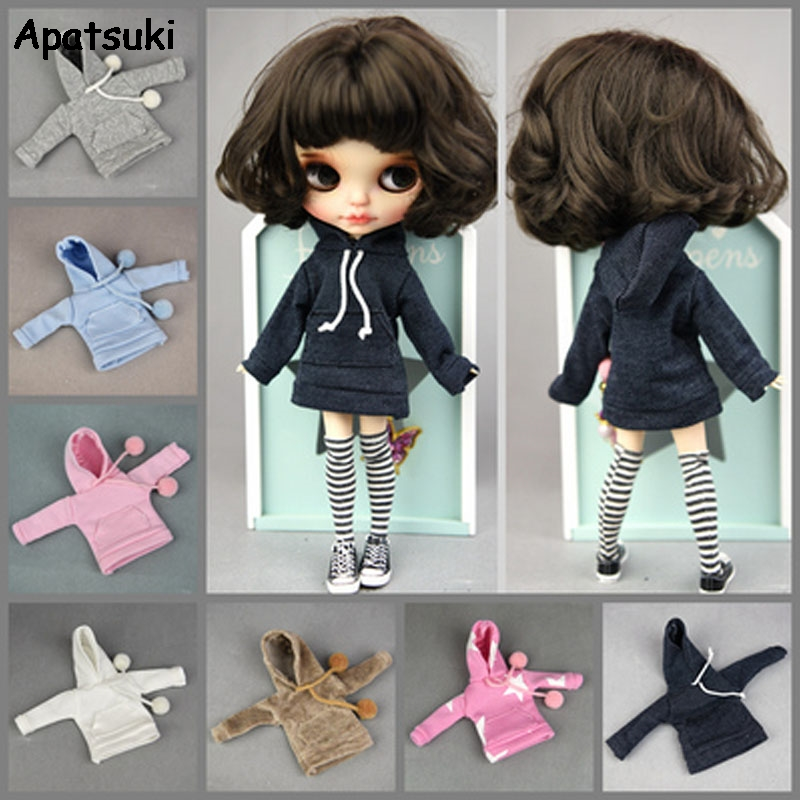 Fashion Handmade Hoodie For Blythe Doll Outfits Sweatshirt Fashion Doll Clothes For Blyth Doll Top Kids Toy 1/6 Doll Accessories