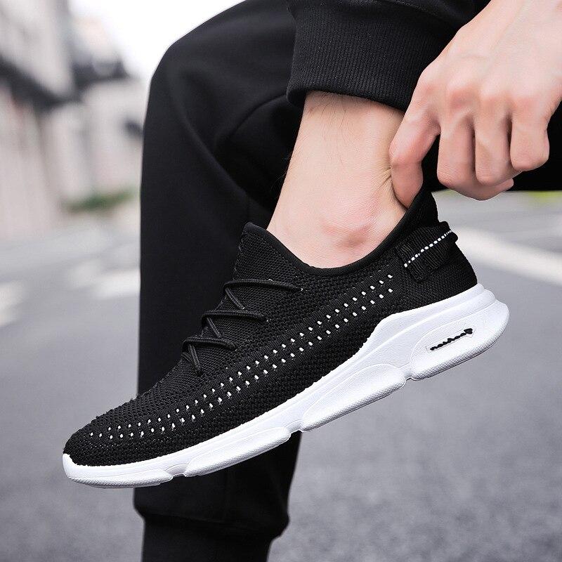 Ultra Léger décontracté Vulcaniser Chaussures Hommes Baskets Sympa à lacets chaussures plates Homme chaussures respirantes