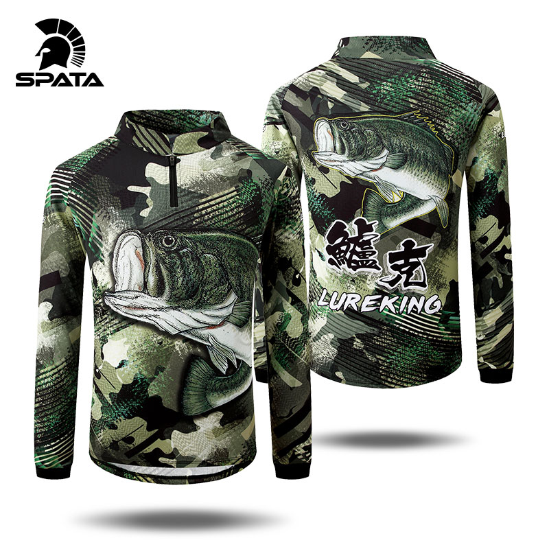 2020 New SPATA Fishing Clothing Camouflage Fishing Jersey Long Sleeve Clothes Breathable UV Protection Quick Dry Fishing Shirts
