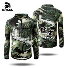 2020 spata рыболовная рубашка камуфляжная зеленая Джерси с длинным