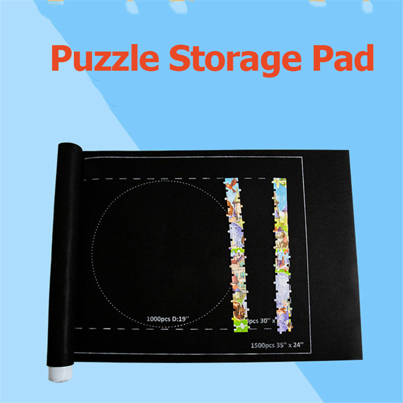 Puzzles Mat Jigsaw Roll Felt Mat 66*116cm Play Mat Large Puzzle Accessories Portable Travel Crawling Mat Kids Toys Mat For Kids
