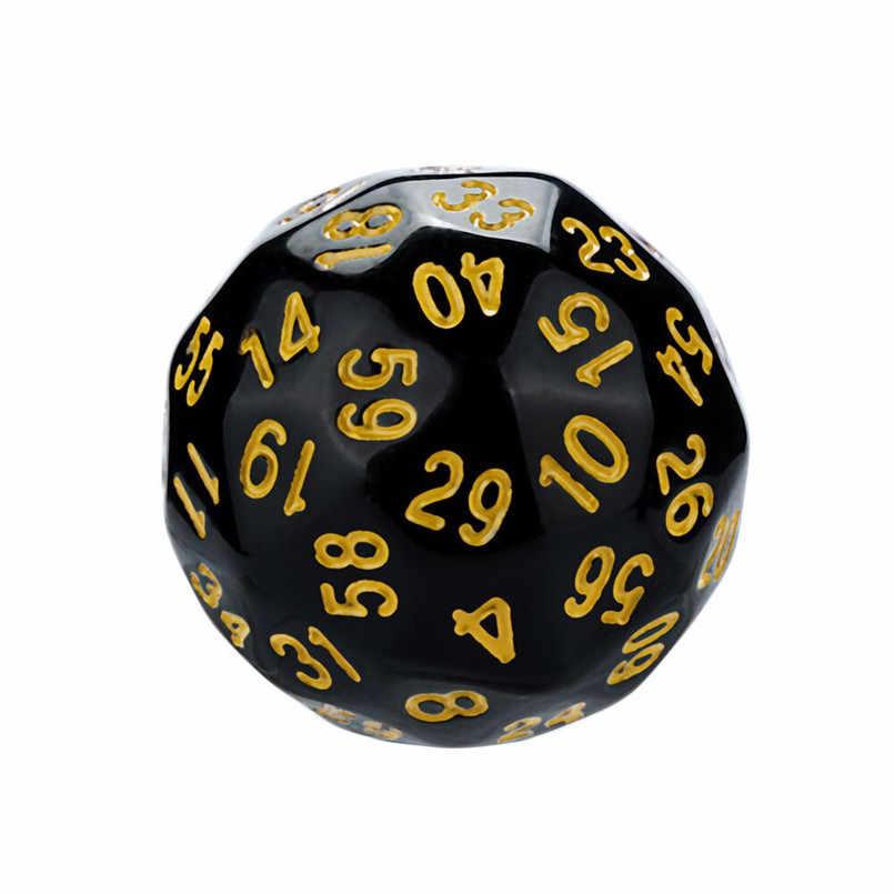 Polyhedron D60 Poly Permainan Dadu Dadu Akrilik DND Dadu Set Dados Poliedricos Baru Dados RPG DICE Tray Dadu Set d60 30A20
