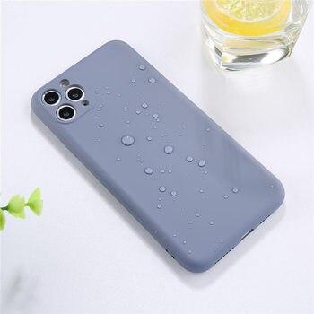 Lovebay couleur bonbon coque de téléphone pour iPhone 11 11 Pro Max Silicone liquide solide uni pour iPhone 11 coque souple coque arrière en TPU 3