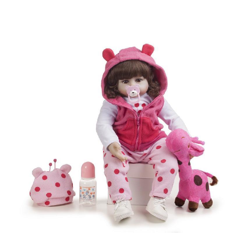 48cm Silicone Reborn bébé poupées Bebe vivant Menina enfant en bas âge réaliste Boneca réaliste vraie fille poupée Lol anniversaire jouer jouets