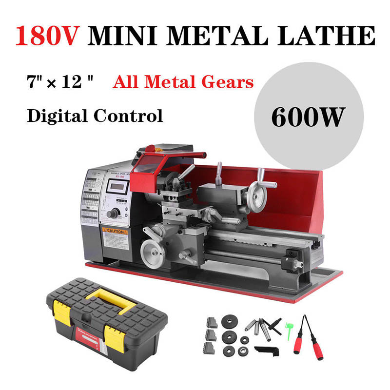 MX180V High Precision Metal Processing Small Machine Tool Home Simple Wenwan Miniature Mechanical Woodworking Wood Rotary Lathe