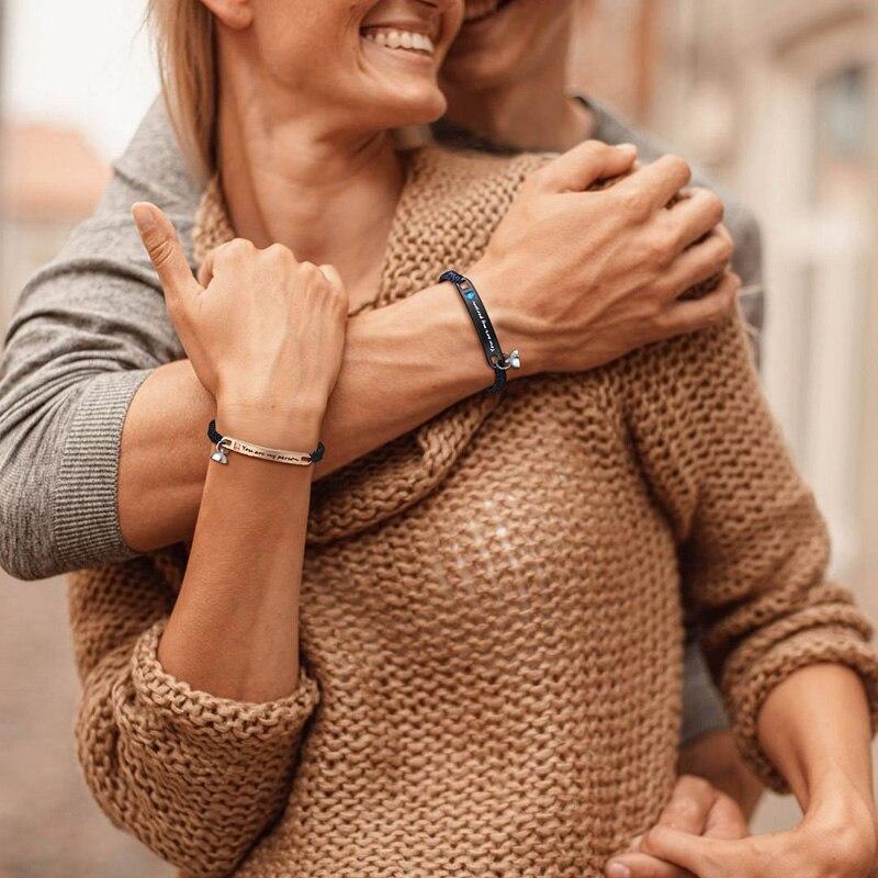 1 paar Paar Schmuck Einstellbare Geflochtene Armband Sie-liebhaber Geflochtene Armband Für Sie Und Ihn Beste Freunde Armband Sets