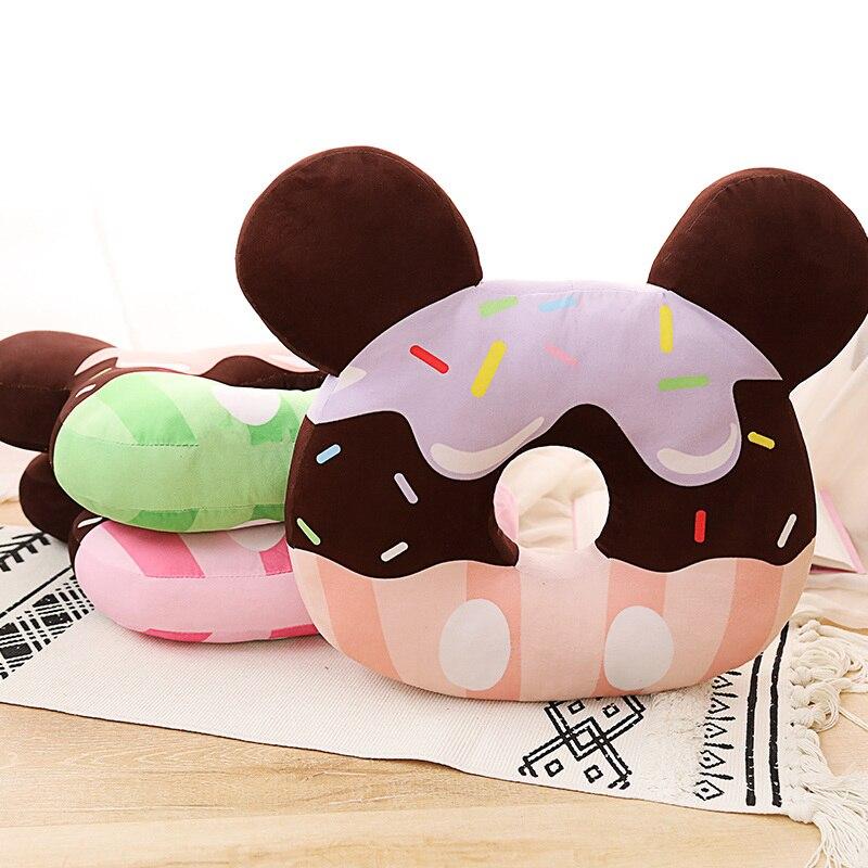 Chocolate donut brinquedo de pelúcia travesseiro de