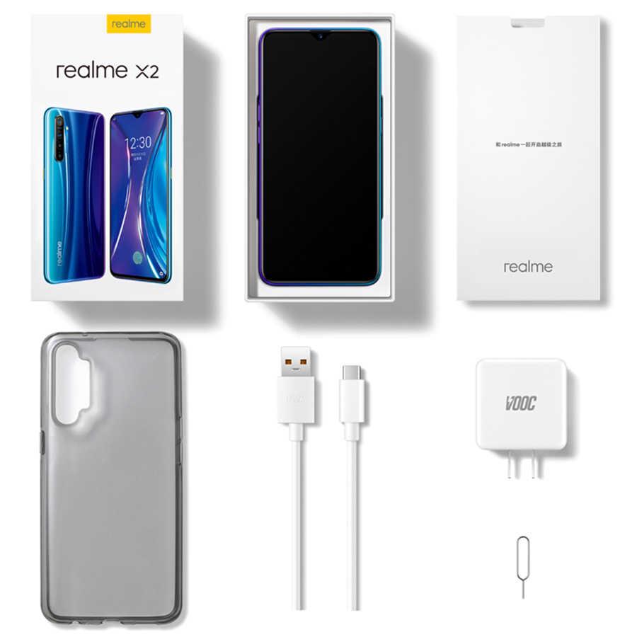 Realme X2 Moblie الهاتف أنف العجل 730G 8GB + 128GB 64MP كاميرا 6.4 ''FHD NFC ممن لهم الهاتف المحمول VOOC 30W شاحن سريع 4G الهاتف الذكي