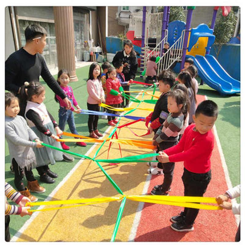 子供ホップスコッチゲームタグボート戦争ムカデプルロープ協力バンド屋外楽しい感覚のおもちゃ子供のためのチームビルディングゲーム