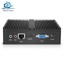 Mini PC Core i5 4210Y Pentium 4405U 2955U i7 i3 computadora PC sin ventilador Windows 10 7 HDMI USB3.0 Htpc Mini PC cliente Delgado NUC