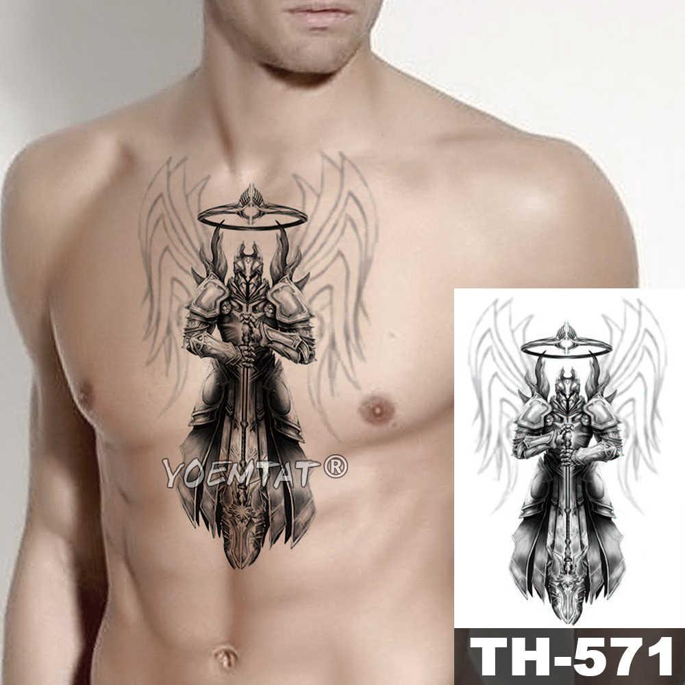 Crânio Samurai Guerreiro Viking Mars Ares Herói Asas À Prova D' Água Tatto Temporária Etiqueta Do Tatuagem Body Art Braço Falsificados Tatoo Homens Mulheres