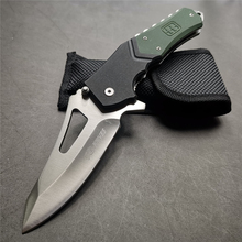 "9"" Knives 55 56HRC Pocket Knives 7Cr13 Blade Quick Open G10 Handle Black Green Camping Hunting Knife Practical Fruit Knifes EDC"