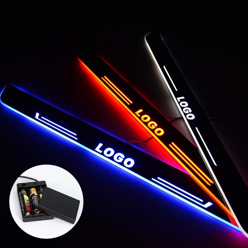 Светодиодный порог для Daihatsu Sirion 2011-2018 потоковый свет Scuff пластина акриловая батарея автомобильные дверные пороги аксессуары