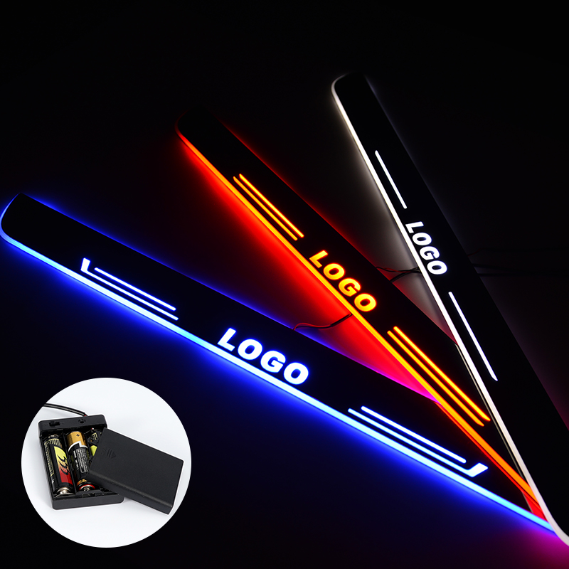 LED Door Sill For Mercedes Benz X204 GLK200 GLK300 Streamed Light Scuff Plate Acrylic Battery Car Door Sills Accessories Nerf Bars & Running Boards     - title=