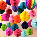 10-35 см красочные декоративные бумажные сотовые шарики, цветочные пастельные шарики для праздника, свадьбы, дня рождения, украшения для вече...