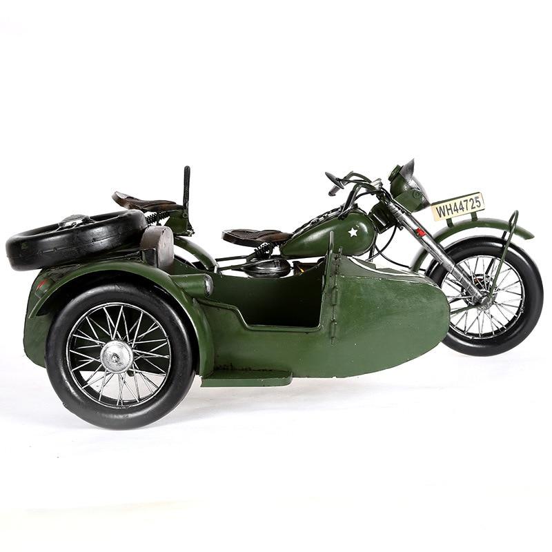 Europese Vintage Home Decor Motorfiets Model Creatieve Metaal Ambachten Verjaardag Geschenken Collectie Souveni Woondecoratie Accessoires - 3