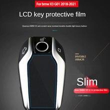 Bmw için X3 G01 için araba anahtarı durum için özel araba LCD anahtar ekran Anti Scratch Sticker her şey dahil HD koruyucu Film 2018 2021