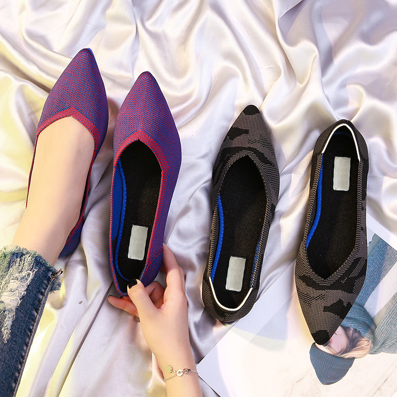 Newly Pointed Toe Flats Shoes Environmental Breathable Anti-slip For Women Girls Party DO99