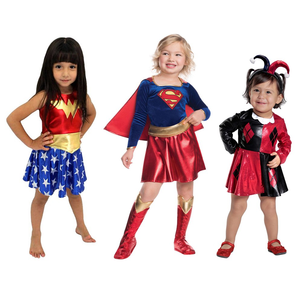 SuperHero Girls Costume For Kids TuTu Dress  Halloween Costume (3-9Years) WonderWoman Girls Party Dress