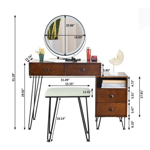 Retro Dressing Table & Stool 2
