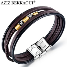 Bracelet Bangle Jewelry Engraved Multilayer-Layers Name Customised Stainless-Steel Man