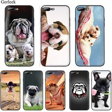 Caso do telefone móvel para o iphone 7 8 6s plus iphone 11 pro xr x xs max casos de luxo capa traseira bonito cão inglês bulldog tremendo(China)