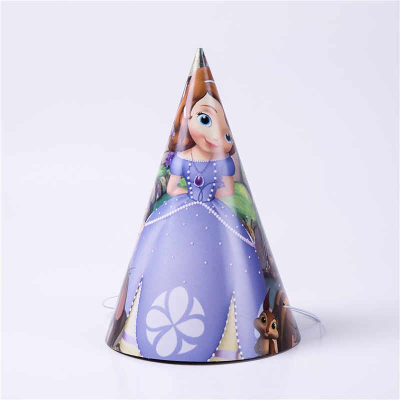 Desenhos animados sofia princesa crianças decorações de festa de aniversário meninas fontes de festa de aniversário papel copo pratos banner chá de fraldas