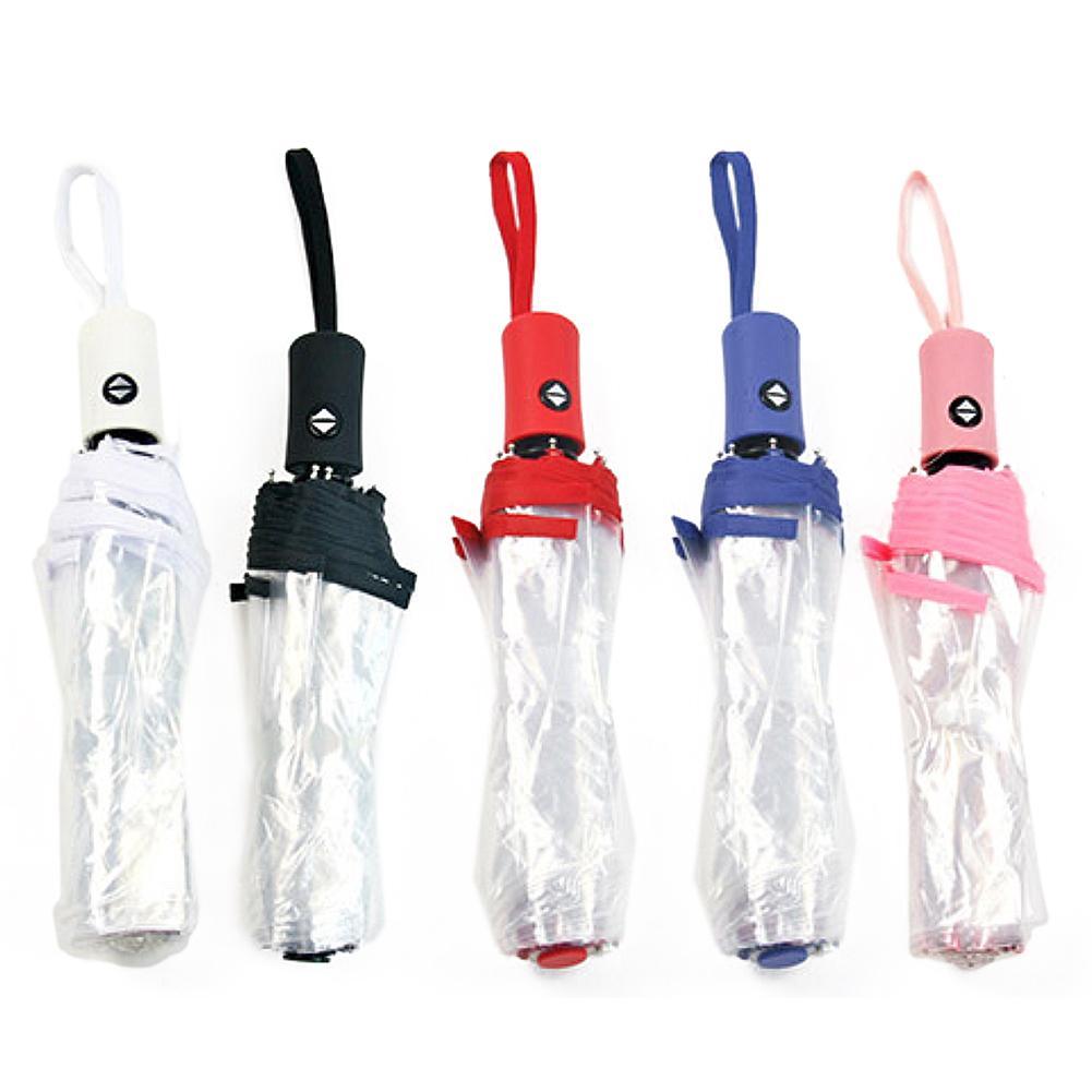 Parapluie imperméable à l'eau anti-soleil parapluie Transparent automatique parapluie Transparent entièrement automatique parapluie triple pli