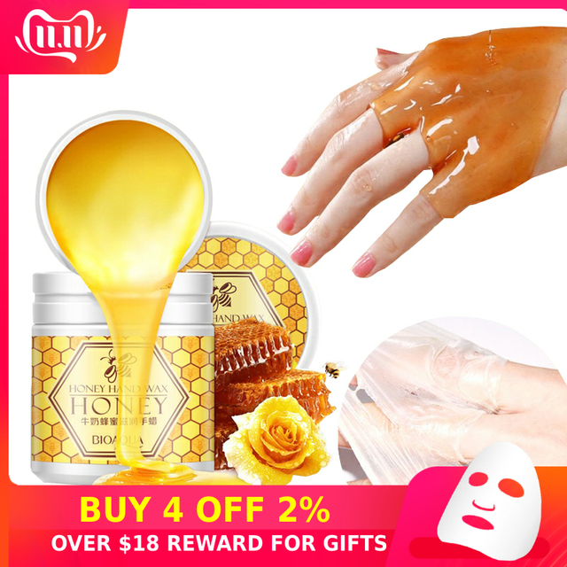 Peeling Hand Feet Mask Wax Honey Essence Paraffin Bath Sodium Hyaluronate Moisturizing Spa Exfoliating Hands Foot Care Cream P