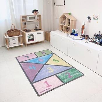 Alfombra de habitación infantil con dibujo de número, tapetes y tapete Para...