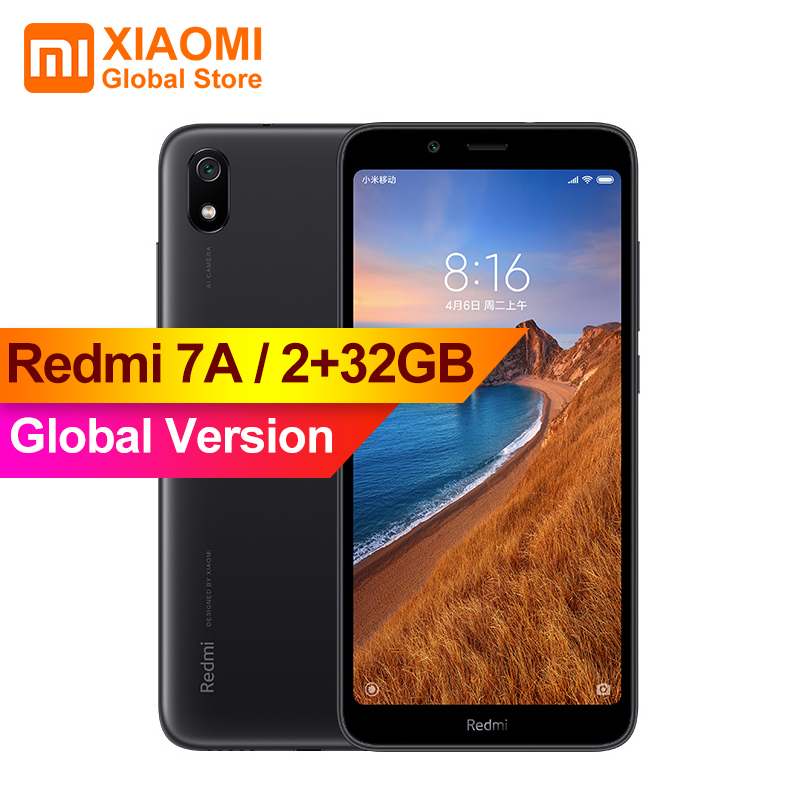 Global Version Original Xiaomi Redmi 7A 7 A 2GB 32GB Smartphone 4000mAh Long Battery Life AI Face Unlock Octa Core 5.45