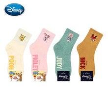 Disney Cute Mickey/Donald Duck/Stitch socks spring & autumn ladies cotton sock anime street shot candy color women's socks