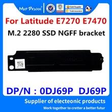 Новый ноутбук M.2 2280 SSD NGFF PCIE, кронштейн радиатора, охлаждающий жилет для Dell Latitude E7270 E7470 0DJ69P DJ69P