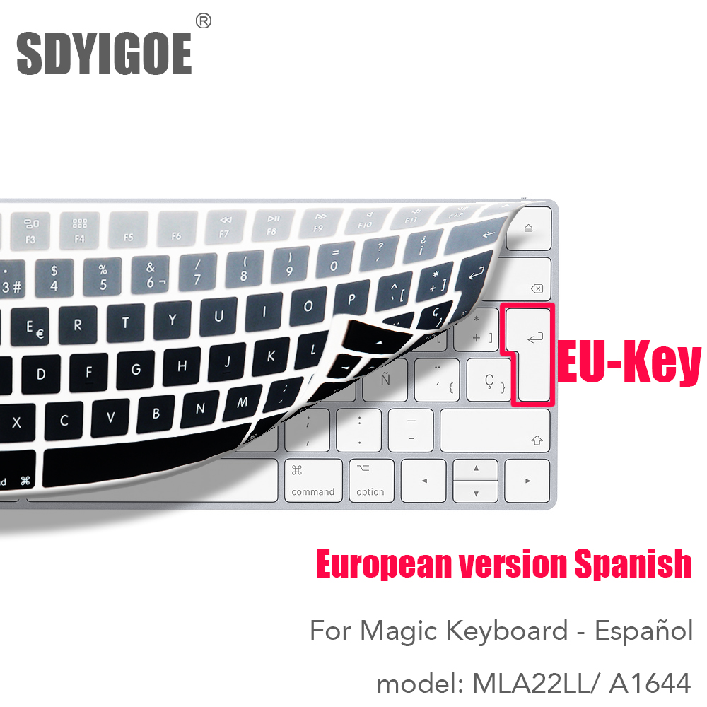 Spanish For Apple Wireless Keybord MLA22LL/ A1644 IMAC Magic Keyboard Cover Protector Silicone Cover EU-Key Version
