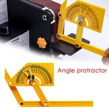 Goniometro e angolo Finder strumento di misurazione della lavorazione del legno da 0 ° a 180 ° righello angolare per la lavorazione del legno strumento di misurazione del goniometro in plastica
