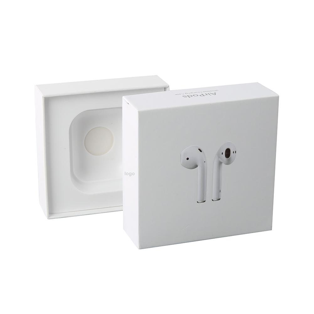 1pcs For Apple Airpods 2 Empty Airpods Package Packing Box Case Protective Delicate Skin With Accessories Retail Box Print