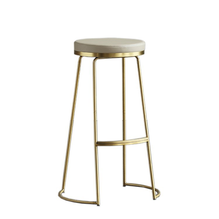 Nordic Ins Wind Bar Stools  Chair Creative Coffee  Gold High Stool Simple Dining  Wrought Iron  Tablesgabelli Bar Stool