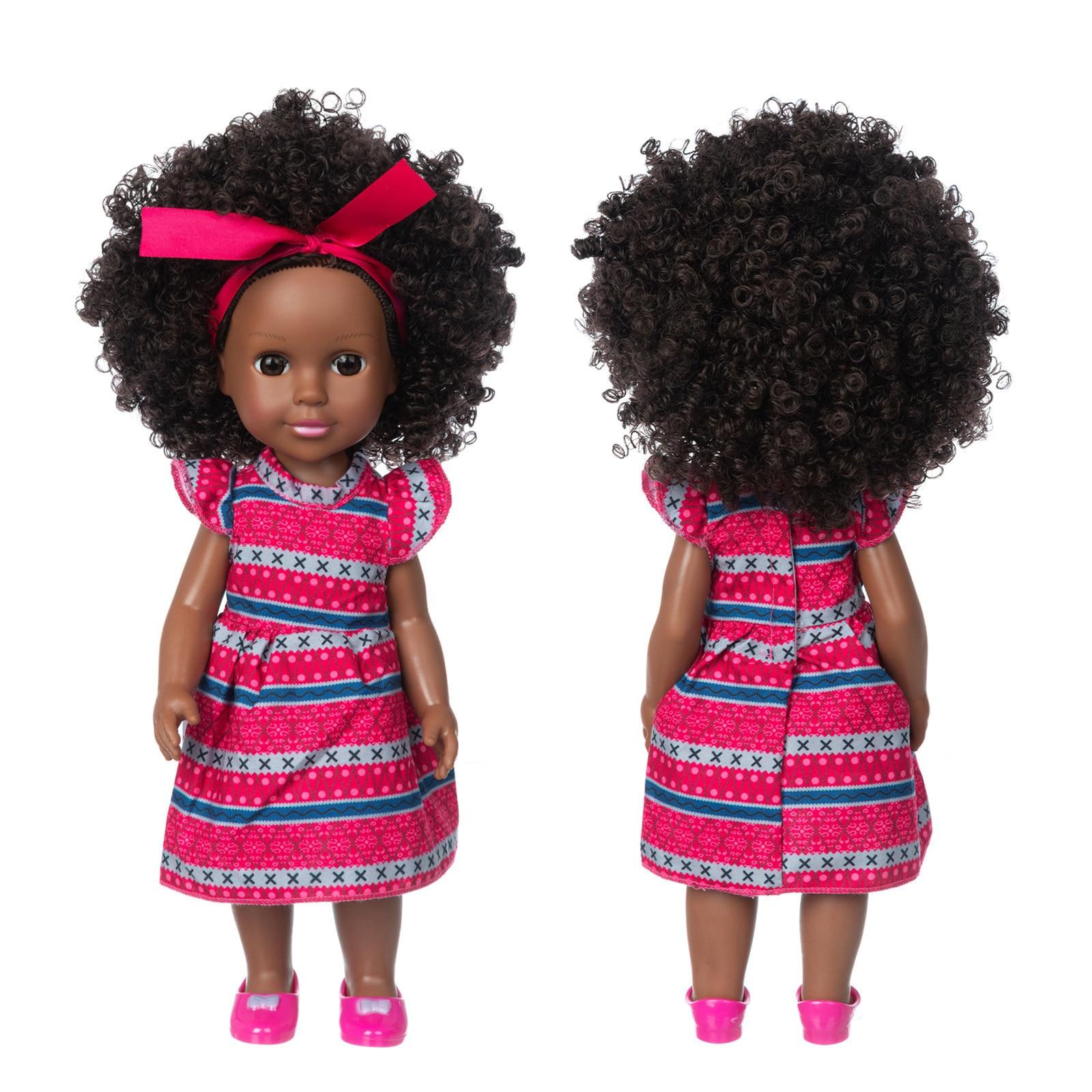 Черные куклы для девочек, афроамериканская игра, мягкие реалистичные куклы, Реалистичная имитация, детские куклы для игр, Забавная детская ...