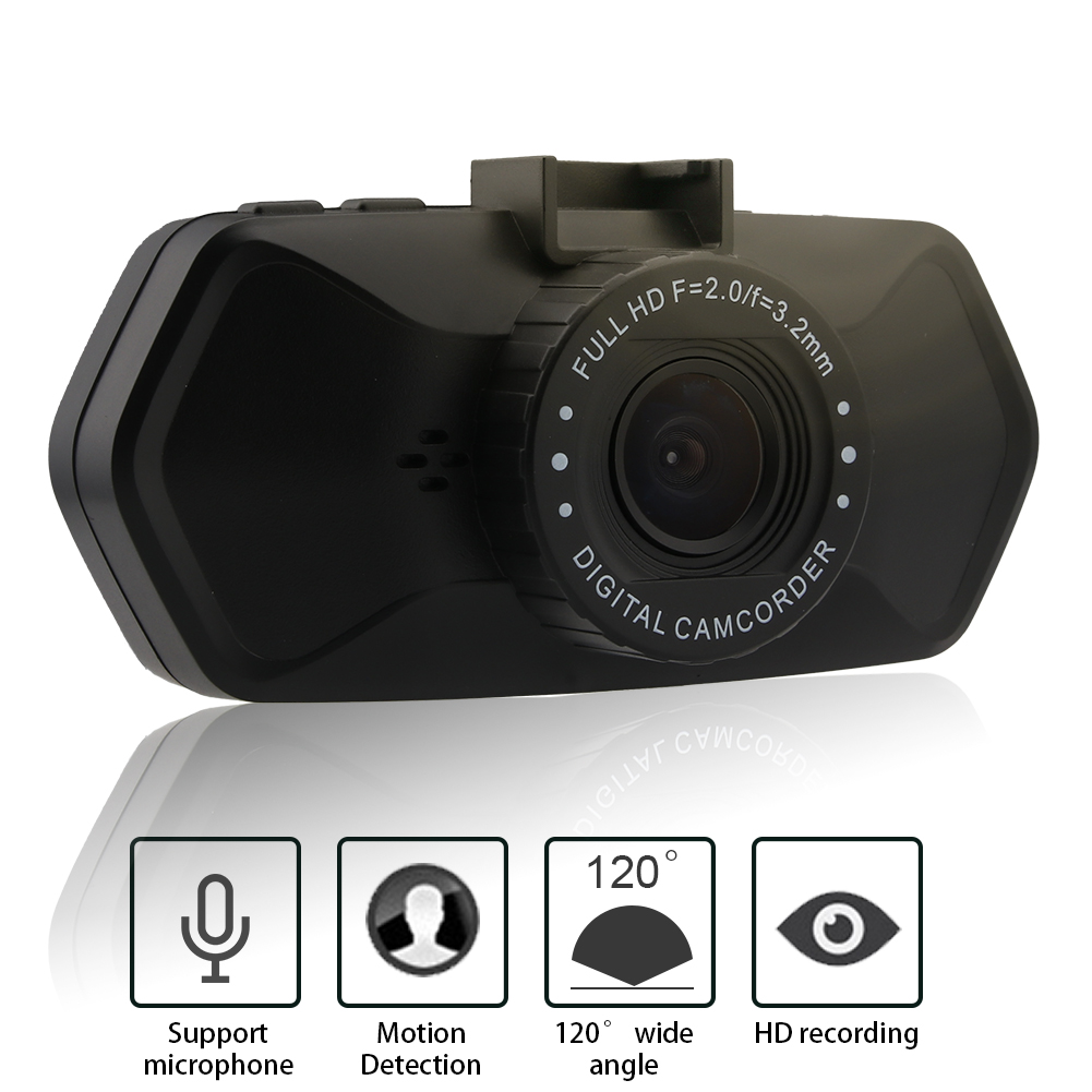 FHD 1080P 2inch LCD Dash Cam Dual Camera Reversing Recorder Car DVR Video
