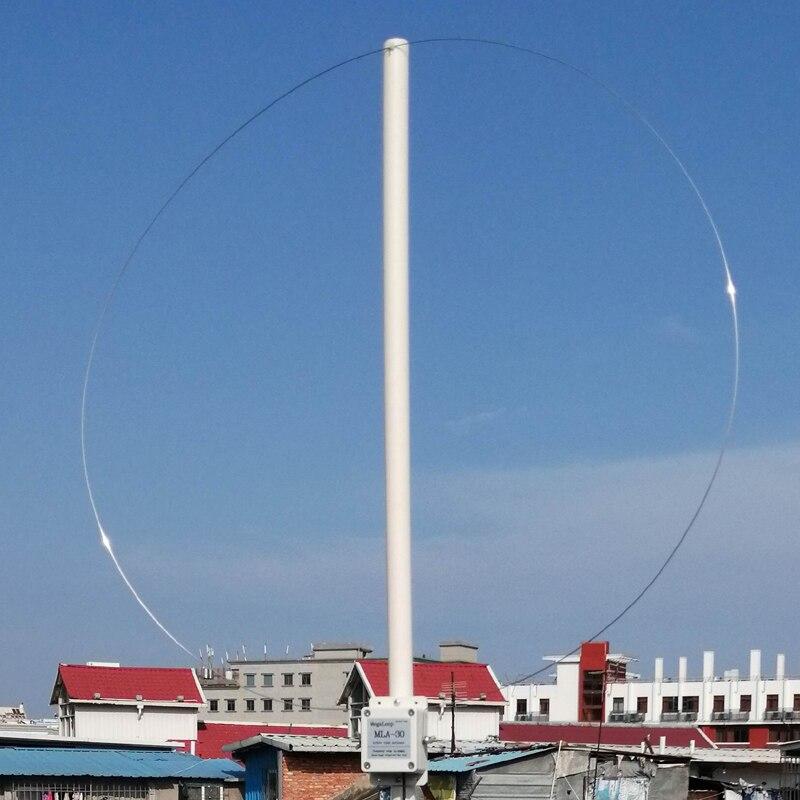 Anillo dykb MLA-30 antena de recepción activa MW SW Antena de montaje de balcón 100 kHz-30 MHz para HA SDR ONDA CORTA radio de onda media,