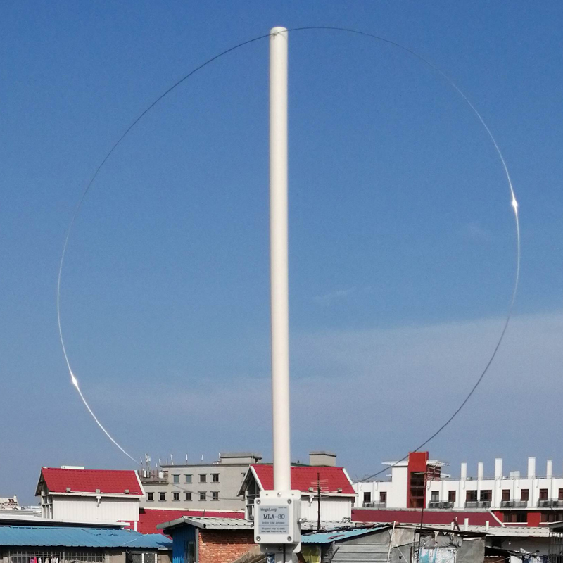 Dykb MLA-30 Ring Active Receive Antenna MW SW Balcony Erection Antenna 100kHz - 30MHz For HA SDR Shortwave Radio Medium Wave