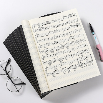 B5 zagęszczony partytura miękka kopia personel muzyczny wynik książki 16K teoria muzyki praktyka notatnik dla studentów tanie i dobre opinie CN (pochodzenie) Notebook 256X182MM 24 sheets
