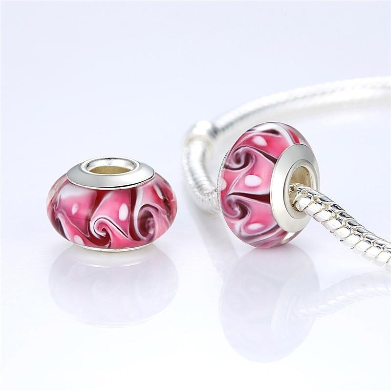 Fashion 30 Styles Handmade Luminous Murano Glass Beads Fit Original Silver Charm Bracelet Pendant DIY Jewelry Making ZBB6372 in Beads from Jewelry Accessories
