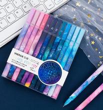 Las 12 Constelaciones cielo estrellado cielo bolígrafo de tinta de Gel Kawaii 0,5mm Neutral bolígrafos para la Escuela de las niñas regalo escribiendo suministros de oficina papelería