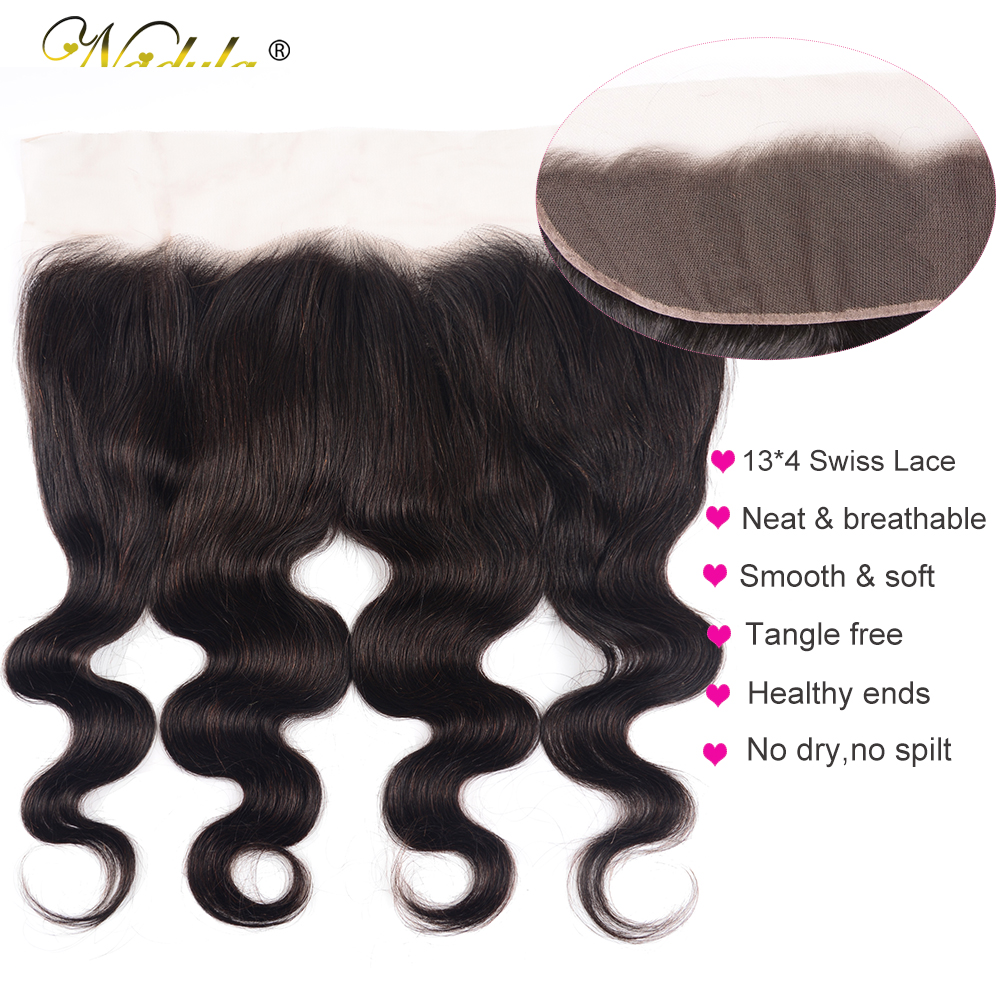 Nadula Hair 13X4 ear to ear Lace Frontal Closure  Body Wave  Frontal Free Part With Baby Hair  Hair 4
