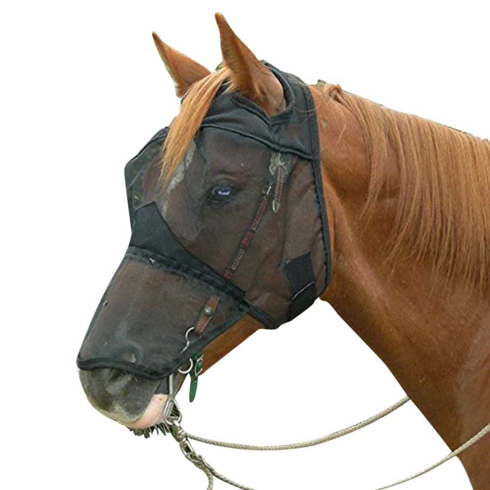 Anti-mosquito Horse Mask Horse Flying Mask Breathable Comfort Equestrian Supplies Horse Mask 56*46*7cm/61*56*8cm/66*58*8cm