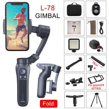 Orsda L7B 3-Axis Handheld Gimbal Stabilizer Gopro camera stabilizer For Smartphone Phone Action Camera Video Record Vlog Live orsda app h4 3 axis gimbal stabilizer gopro camera stabilizer shandheld selfie stick tripod for smartphone connection bluetooth