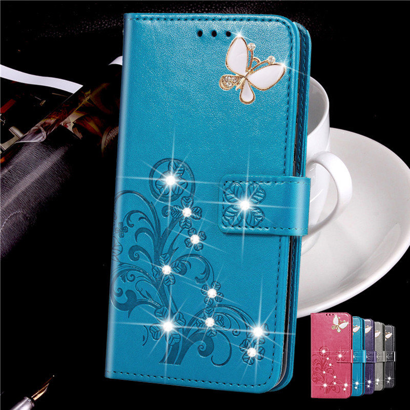 3D Diamond Flower Leather <font><b>Case</b></font> for <font><b>Sony</b></font> Xperia 1 Ace 2 5 8 10 20 Z1 Compact Mini Z2 Z3 Plus <font><b>Z4</b></font> Z5 Premium <font><b>Flip</b></font> Cover image
